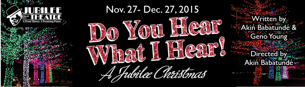 "Black backgraound with event details ""Nov. 27th through Dec. 27, 2015 Jubilee Christmas"""