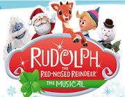 "Classic Images of well known Rudolph the Red Nosed Reindeer featuring sign ""The Musical"""