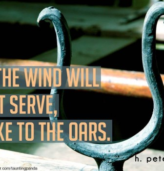 If the wind will not serve – Take to the oars