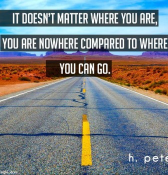 It doesn't matter where you are – You are nowhere compared to where you can go