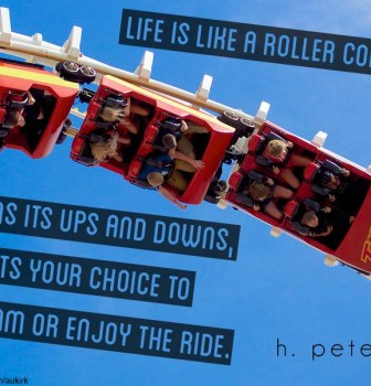 Life is like a roller coaster – It has ups and downs but it's your choice to scream or enjoy the ride
