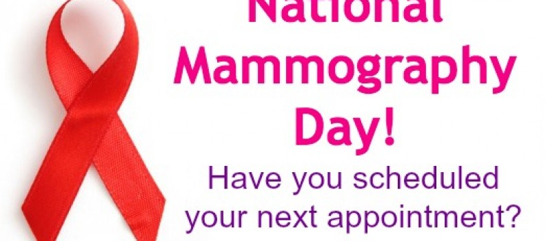 National Mammography Day is Friday, October 17th
