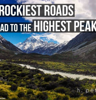 The rockiest roads lead to the highest peaks